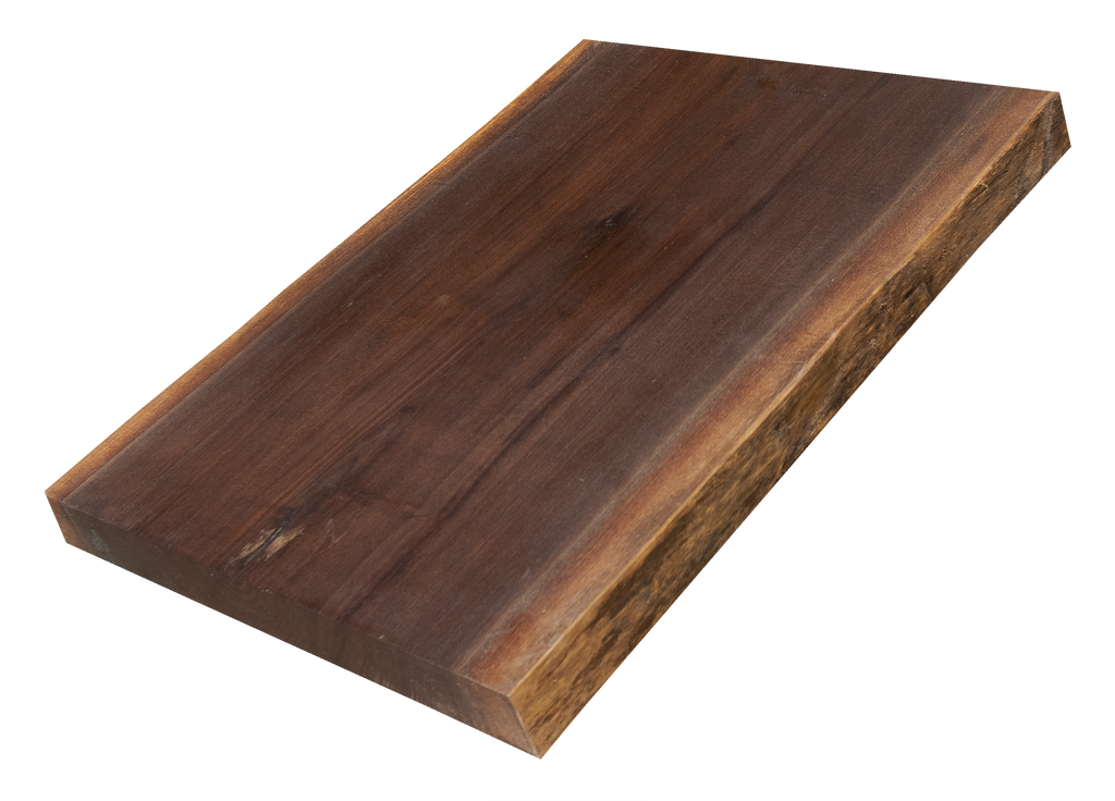 "Walnut Live Edge Cutting Board #162 (1.25""-12.5""-16"")"