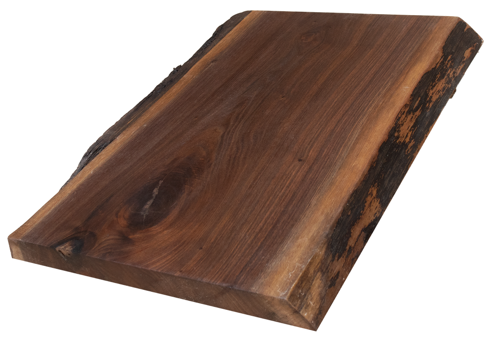 "Walnut Live Edge Cutting Board #166 (1.75""-13.5""-18"")"