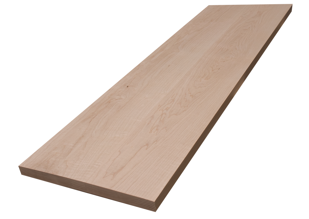 """Curly Maple Wide Plank (Face Grain) Countertop #59 (1""""-13""""-43.25"""")"""