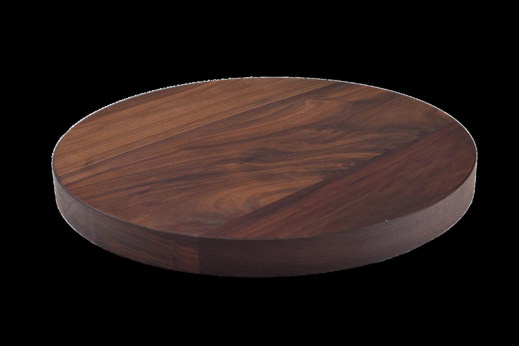 Walnut Wide Plank Round Cutting Board