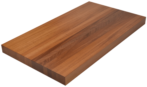 African Mahogany Edge Grain Butcher Block Countertop.