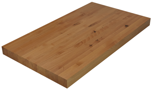 Knotty Alder Edge Grain Butcher Block Countertop.