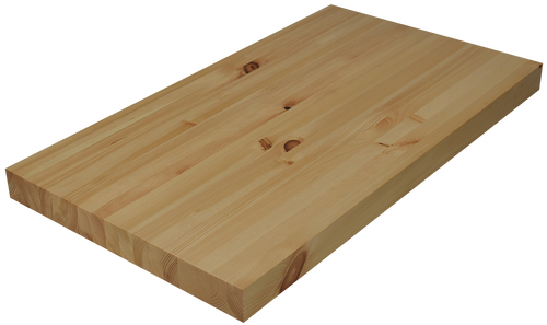 Knotty Pine Edge Grain Butcher Block Countertop.