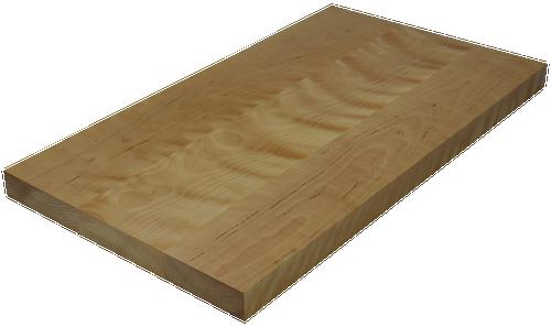 Birch Wide Plank (Face Grain) Countertop.