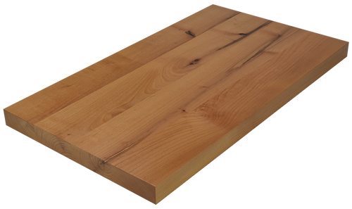 Knotty Alder Wide Plank (Face Grain) Countertop.