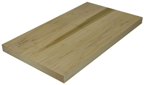 Poplar Wide Plank (Face Grain) Countertop.