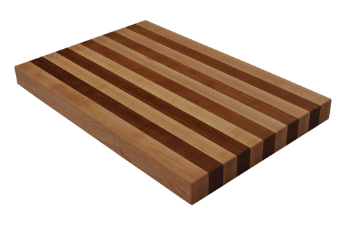 Maple and Cherry Edge Grain Butcher Block Cutting Board