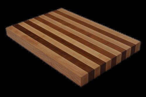 Maple and Cherry Edge Grain Butcher Block Cutting Board