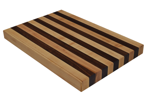 Maple and Walnut Edge Grain Butcher Block Cutting Board
