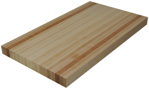 Maple Edge Grain Butcher Block Countertop with 2 Cherry Strips.