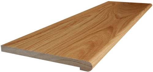 White Oak Stair Tread side angle picture.