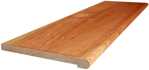Character Cherry Stair Tread with side angle picture.