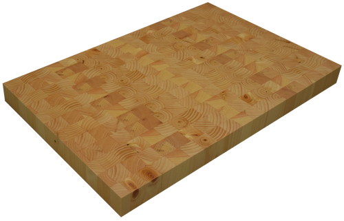 Knotty Pine End Grain Butcher Block Countertop.