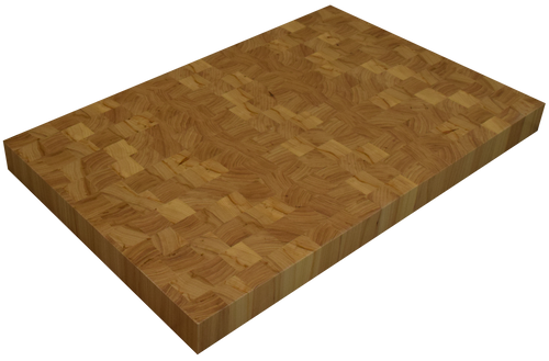 Grey Elm End Grain Butcher Block Countertop.