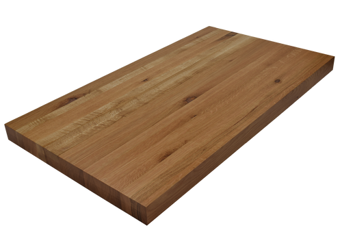 Rustic White Oak Edge Grain Butcher Block Countertop.