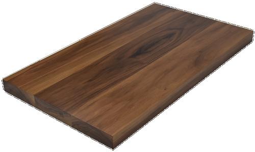 Steamed Walnut Wide Plank (Face Grain) Countertop.