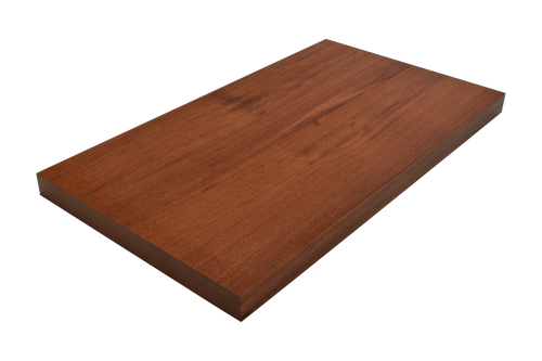 Brazilian Cherry (Jatoba) Wide Plank (Face Grain) Countertop.