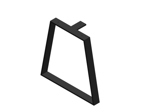 Bent Trapezoid Metal Table Base