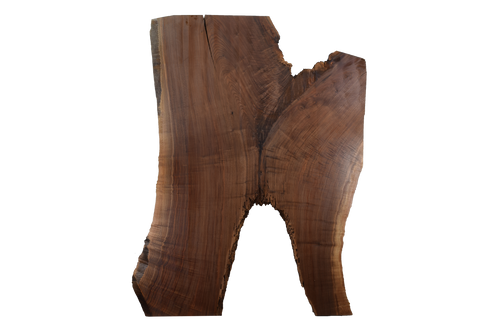 Front-side of Walnut Live Edge Slab #397.