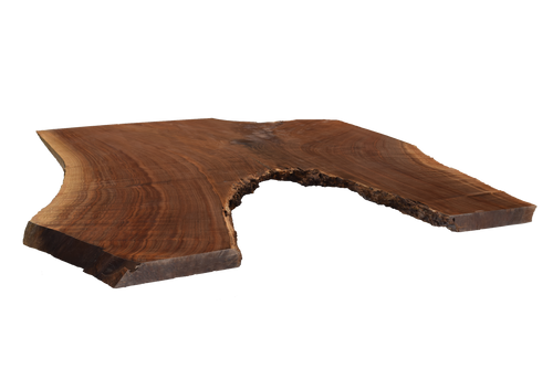 Backside angle of Walnut Live Edge Slab #395.