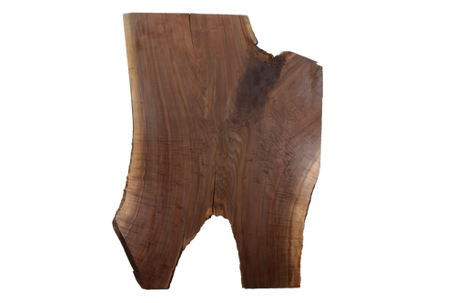 Front-side of Walnut Live Edge Slab #394.