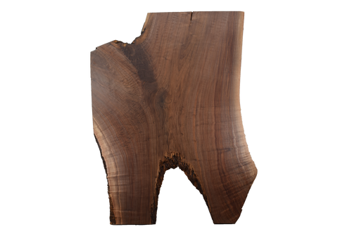 Back-side of Walnut Live Edge Slab #394.