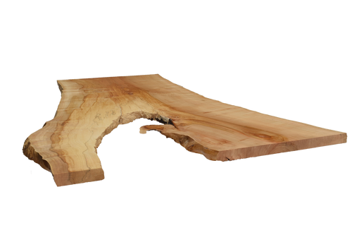 Front-side angle of Maple Live Edge Slab #385.