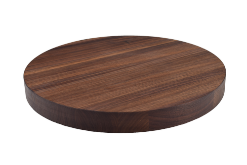 Walnut Edge Grain Round Cutting Board