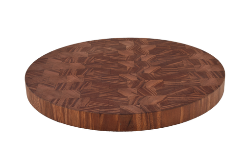 African Mahogany End Grain Round Cutting Board.