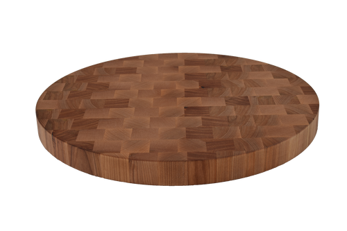 Birch End Grain Round Cutting Board.