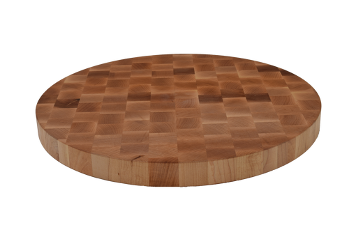 Maple End Grain Round Cutting Board.