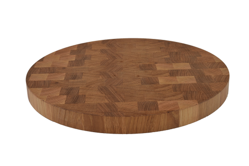 White Oak End Grain Round Cutting Board.