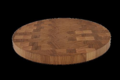 White Oak End Grain Round Cutting Board