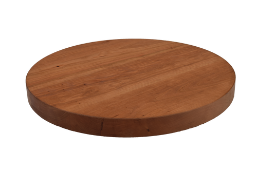 Cherry Wide Plank Round Cutting Board.
