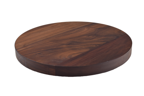 Walnut Wide Plank Round Cutting Board.