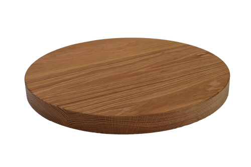 White Oak Wide Plank Round Cutting Board.