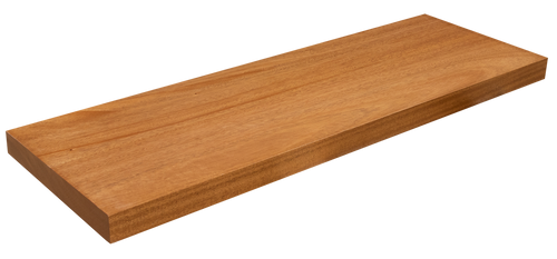 African Mahogany Floating Stair Tread WP