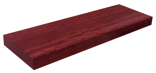 Purpleheart Floating Stair Tread FG