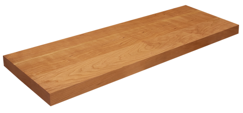 Rustic Cherry Floating Stair Tread WP