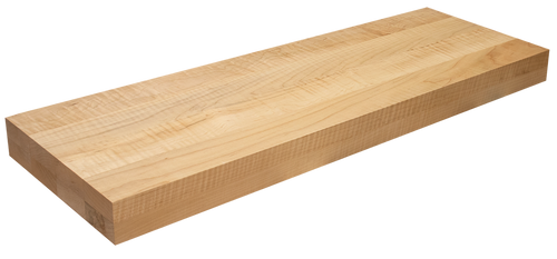Curly Maple Floating Stair Tread FG