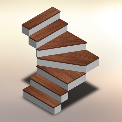 Premium Walnut Winder Treads
