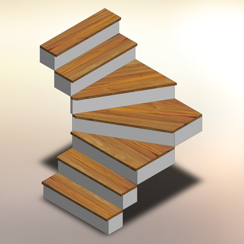 Canarywood Winder Stair Treads