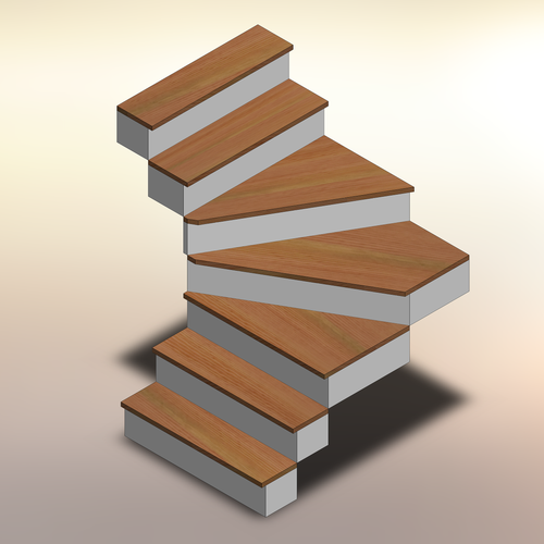Douglas Fir Winder Treads