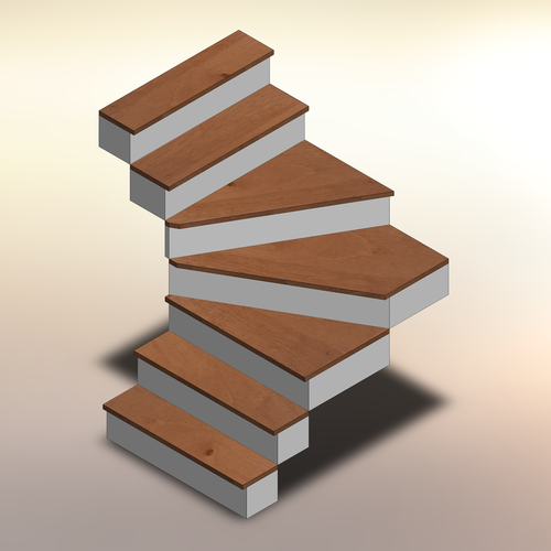 Spanish Cedar Winder Treads