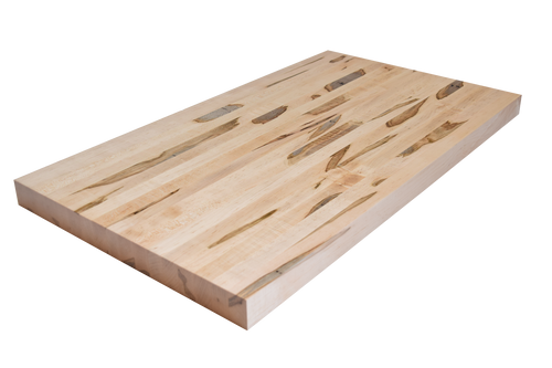 Wormy Maple Edge Grain Butcher Block Countertop