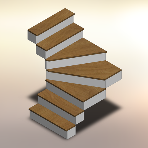 White Oak Winder Treads