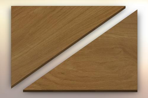 White Oak Winder Treads diagonally cut into two pieces.