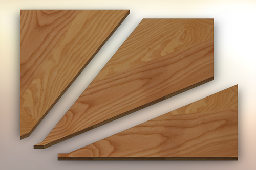 Ash Winder Treads cut into three pieces.