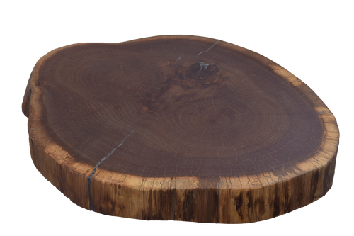 Walnut Live Edge Round #464