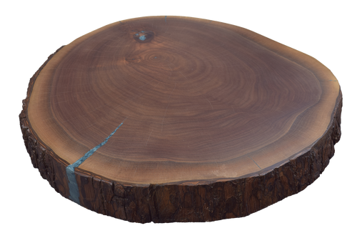Walnut Live Edge Round #465